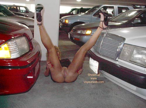 Pic #5 - Dee Playing Around In The Parking Garage!