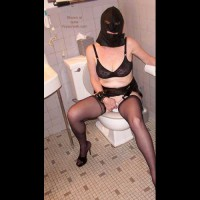 Collared Slave Evelyn Using The Commode