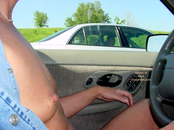 Pic #8 - DN* Sweet Nips Driving Naked...Well Almost