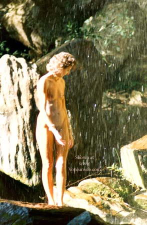 Pic #6 - Clarissa Under a Waterfall in The Rockies