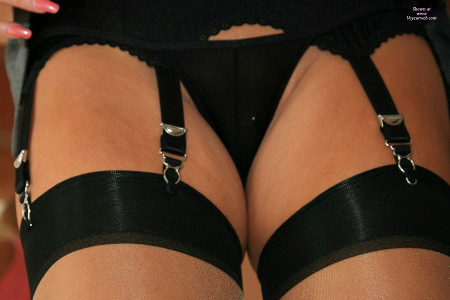 Pic #1 - Pussy Covered In Black Thong - Stockings, Naked Girl, Nude Amateur , Stockings, Thonged Crotch, Garters With Steel Clasps, Thigh Highs, Nude Stockings With Black Tops, Black Panties, Black Stokings, Garters With Silver Clasps, Garter And Stockings, Tiny Black Thong