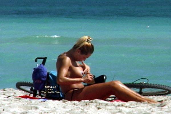 Pic #2 - Sun Tan Lotion On The Aereolas