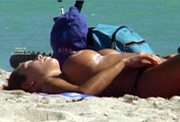 Pic #9 - Sun Tan Lotion On The Aereolas