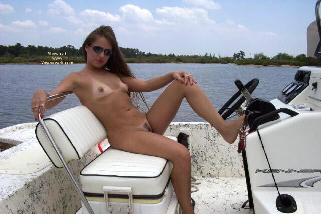 Pic #2 - Amber Takes A Ride On Adams Boat