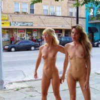 Two Girls Walking Nude - Nude In Public