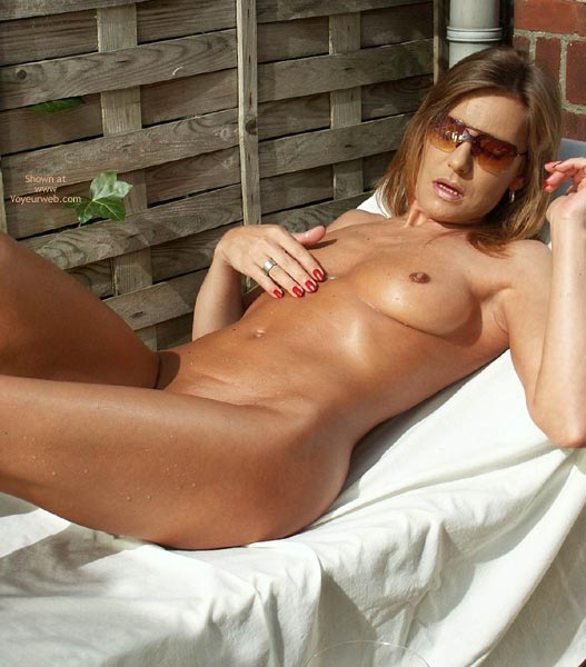 Pic #1 - Tanning Fun - Erect Nipples, Fun, Sunglasses , Tanning Fun, Small Tits  Erect Nipples, Sunglasses, Chocolate Nips