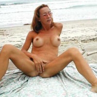 Breast Implants - Nude Beach, Spread Legs, Tan Lines