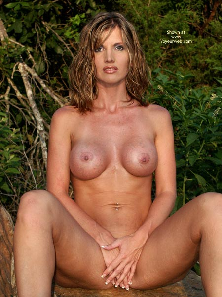 mature nude, naked in nature, chanel