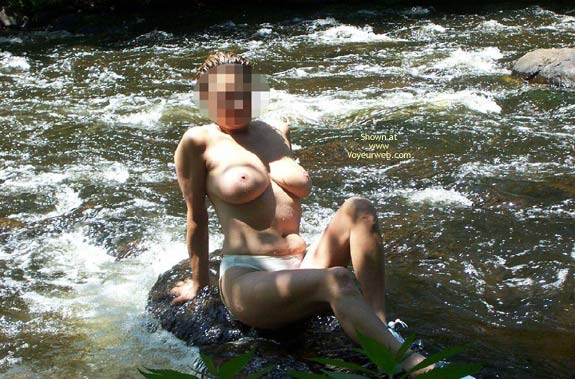 Pic #5 - Badgergirl In The Rapids Two