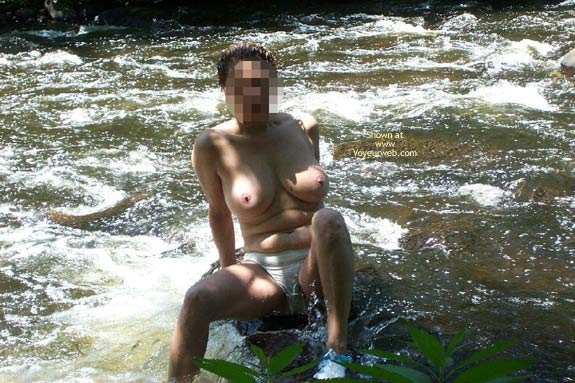 Pic #6 - Badgergirl In The Rapids Two