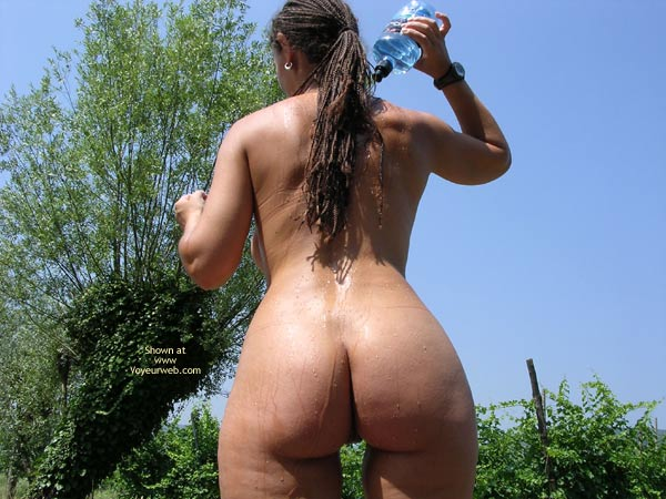 Pic #3 - Cinzia With Cold Water On A Hot Summer Day