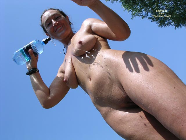 Pic #7 - Cinzia With Cold Water On A Hot Summer Day