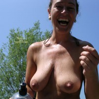 Laughing - Erect Nipples