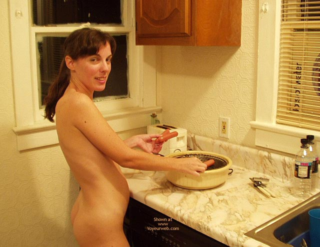 Pic #3 - Amy Cooking Up Some Wieners!!