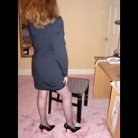 *HY Sexy Secretary in Black Stockings