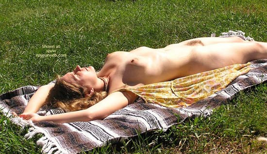 Pic #1 - Bush - Hairy Bush, Nude Outdoors, Sunbathing , Bush, Outdoors, Lying Flat, Sunbathing, Nude Outdoors, Open Dress