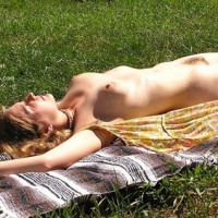 Bush - Hairy Bush, Nude Outdoors, Sunbathing