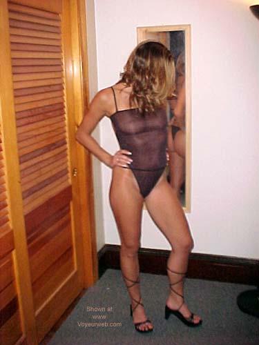 Pic #2 - Alexis in Her Black Bodysuit 1!