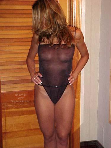 Pic #4 - Alexis in Her Black Bodysuit 1!
