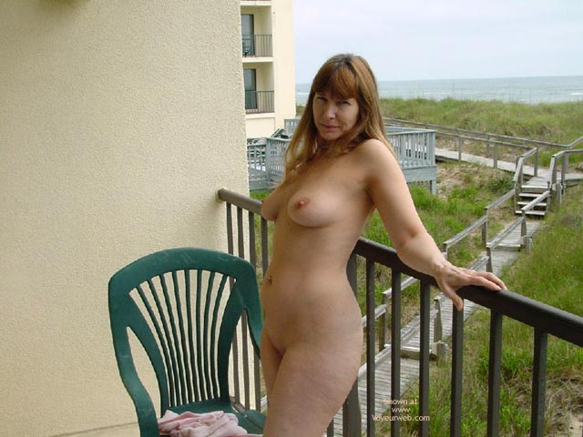Pic #5 - Purple Patty Nude On Balcony In N.C.