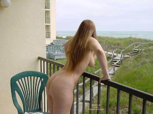 Pic #6 - Purple Patty Nude On Balcony In N.C.