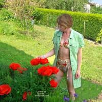 Fs*Julie Hsavoie In Her Garden