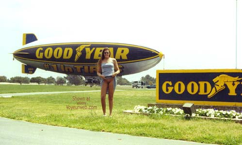 Pic #2 - Hollywood Flasher at The Goodyear Blimp 1