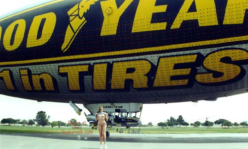 Pic #7 - Hollywood Flasher at The Goodyear Blimp 1