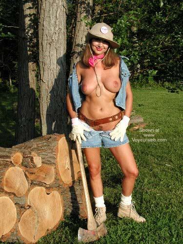 Pic #1 - Natalie Splits Wood