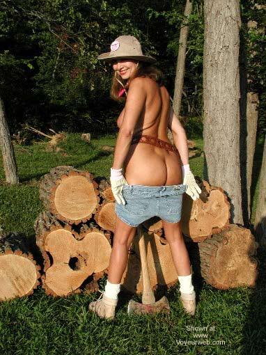 Pic #2 - Natalie Splits Wood