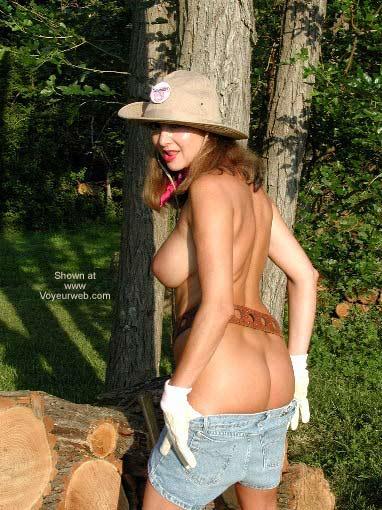 Pic #3 - Natalie Splits Wood