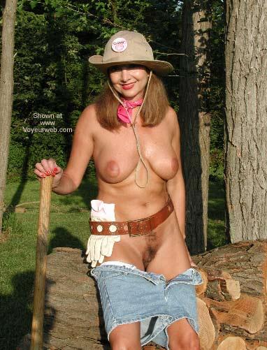 Pic #4 - Natalie Splits Wood