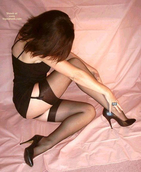Pic #1 - Non-nude - Black Hair, Heels, Stockings, Sexy Shoes , Non-nude, Black Stockings, Little Black Dress, No Face Visible, Black Hair, High Heels, Black Shoes