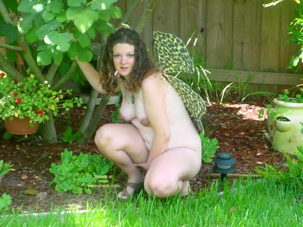 Pic #2 - Preggo Fairy In Her Garden