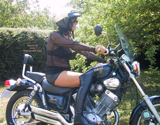 Pic #1 - Maeva The French Girl And Its Motor Bik