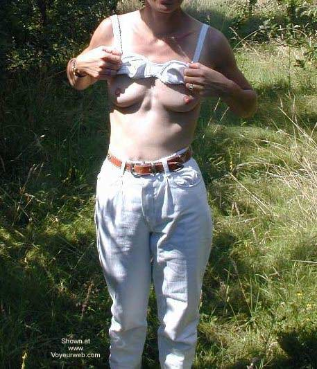 Pic #3 - Hairy Delphine Stripping in The Bush
