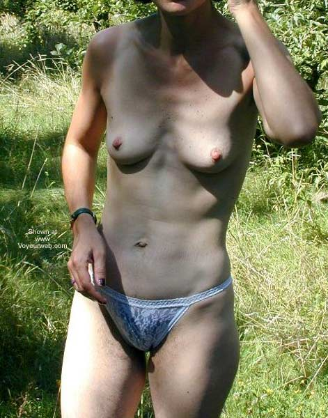 Pic #6 - Hairy Delphine Stripping in The Bush