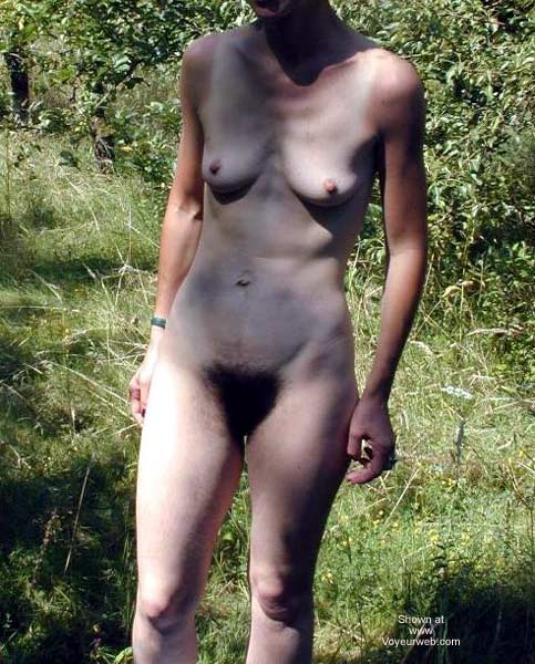 Pic #9 - Hairy Delphine Stripping in The Bush