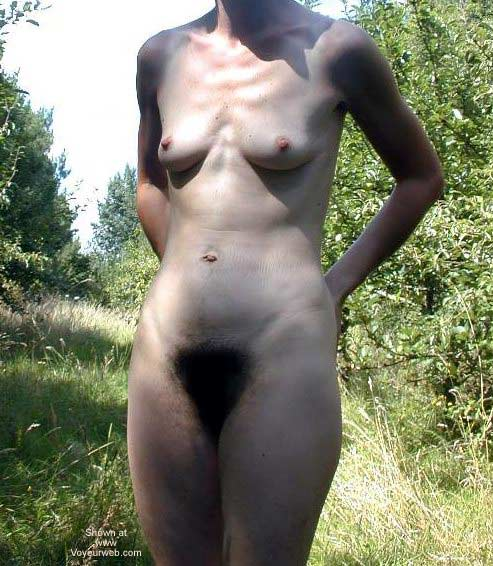 Pic #10 - Hairy Delphine Stripping in The Bush
