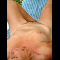 Untrimmed Pussy - Medium Breasts, Necklace, Nude Outdoors