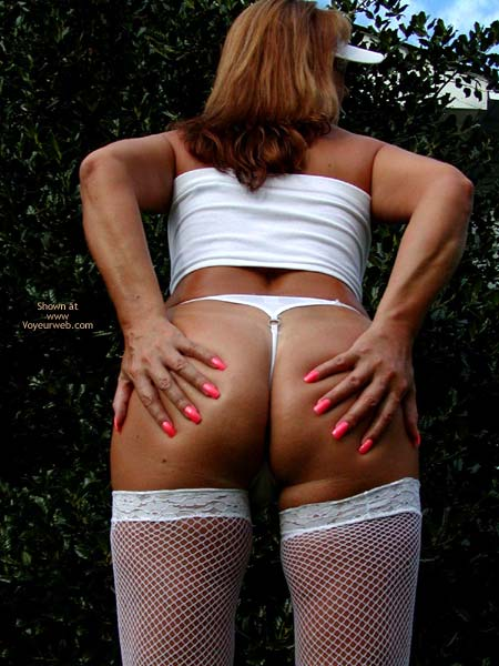 Pic #3 - Soo Hot N White Stockings And Neon Heels 2