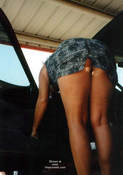 Pic #10 - The Wifey Cleaning The Car