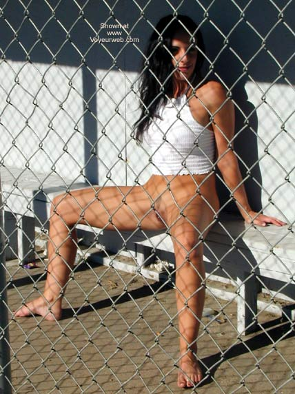 Pic #3 - Bi-curious Fiancé Playing in The Baseball Dugout