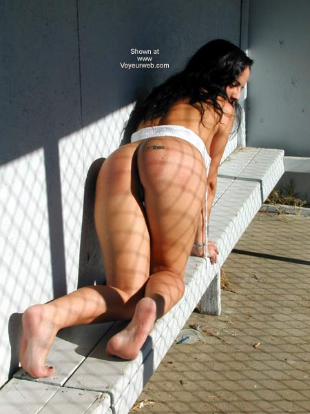 Pic #5 - Bi-curious Fiancé Playing in The Baseball Dugout