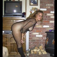 Leslie in Black Bodystocking 3