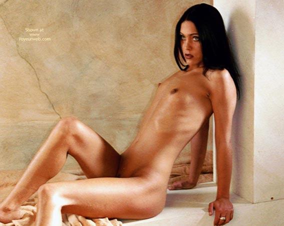 Pic #1 - Small Dark Nipples - Black Hair, Dark Nipples , Small Dark Nipples, Black Hair, Nude Girl Sitting, Very Tiny Tits, Nude Brunette Sitting Against Column