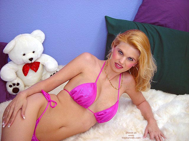 Pic #1 - Pink Bikini, Alpaca Rug And Bare Puss