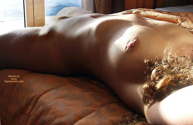 Pic #1 - Female Torso On A Bed - Bed , Female Torso On A Bed, Sun Dried Fruit, Light Play, Goose Pimples, Reclining