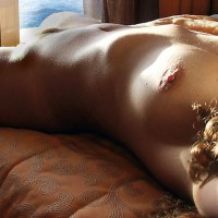 Female Torso On A Bed - Bed