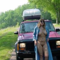 Purple Patty'S Jeep Needs Gas